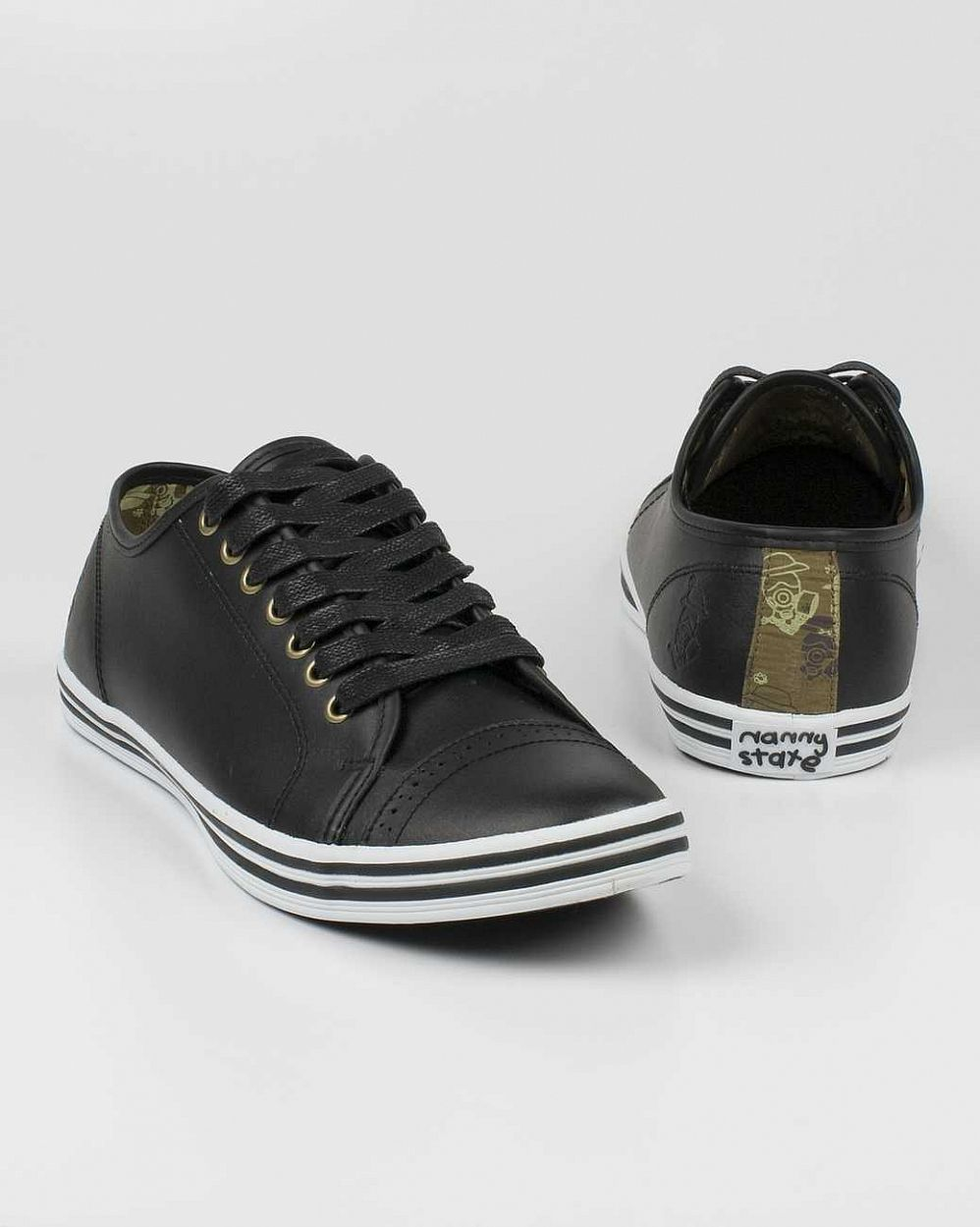 Кеды Nanny State Toe Detail Black Leather отзывы