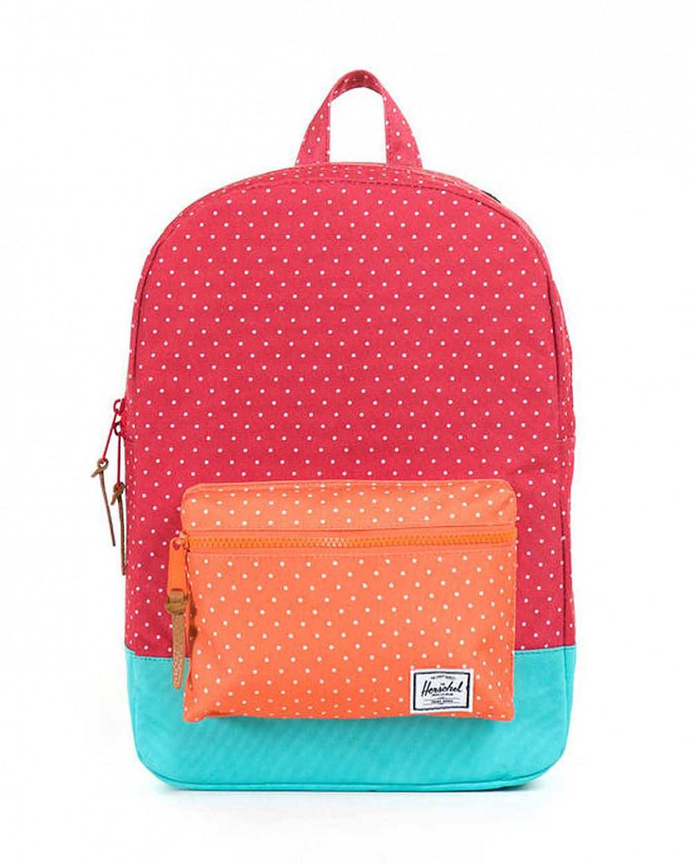 купить Рюкзак детский Herschel Settlement Kids Red Polka Dot Orange Polka Dot Harlow в Москве