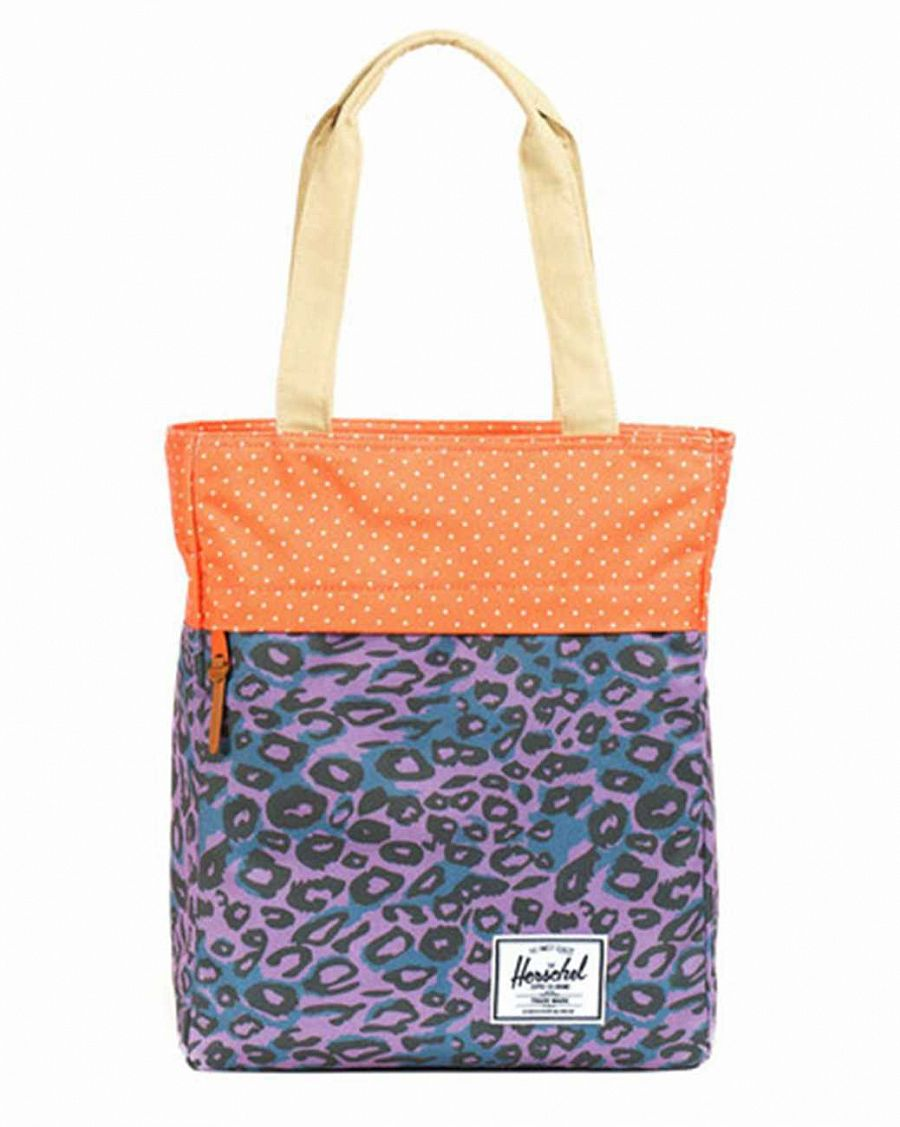 купить Сумка Herschel Harvest Purple Leopard Orange Polka Dot Khaki в Москве