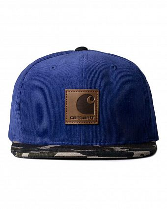 Бейсболка carhartt gibson starter cap imperial blue camou lsle