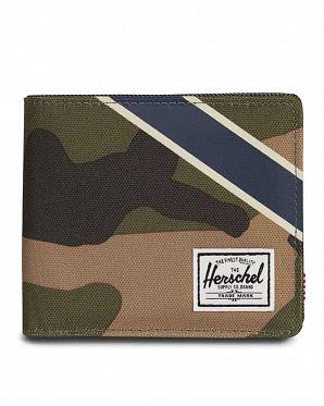 dd4d1d9387f Кошелек Herschel Roy + Coin XL RFID Woodland CamoSilver Offset Collection  ...