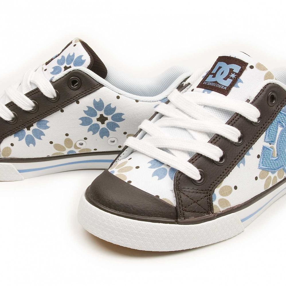Кеды DC Shoes Chelsea W'S White Dark Chocolate цена в Москве