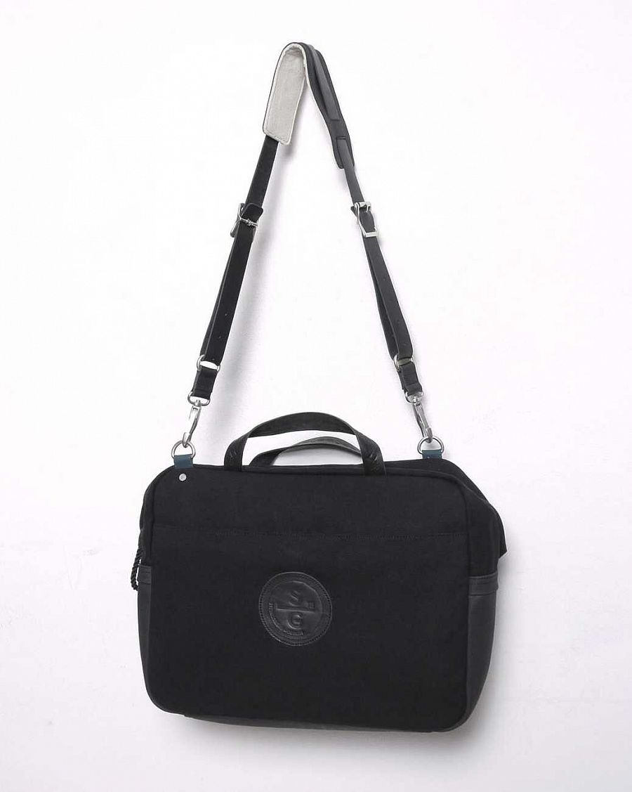 купить Сумка Stighlorgan Lennan Canvas Leather Laptop Bag black в Москве