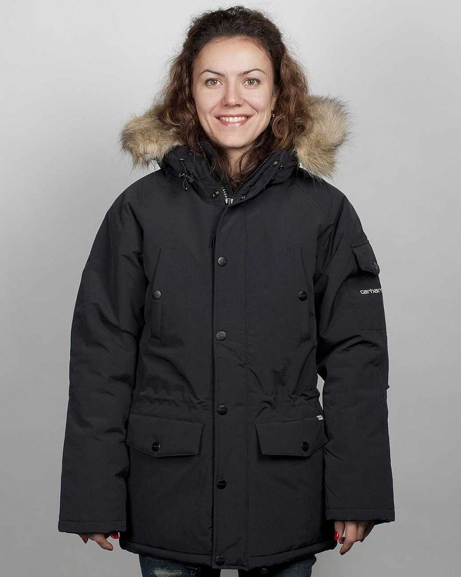 купить Куртка Carhartt Anchorage Parka Jacket W'S Black brocken white в Москве