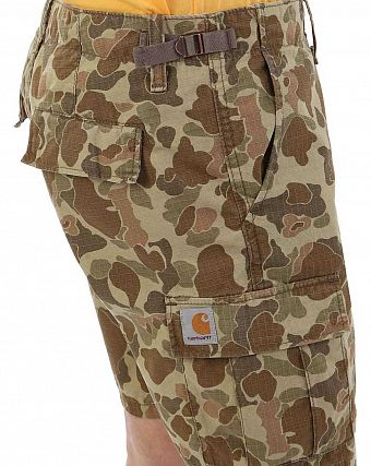 Шорты укороченные Carhartt WIP Aviation Short Columbia Cotton Ripstop 6.5 Oz Camo Tender