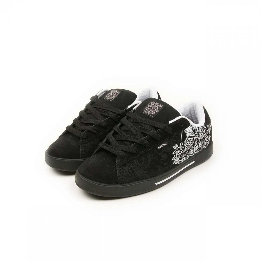 купить Кеды Osiris Serve Black White Skull Maxx242 в Москве
