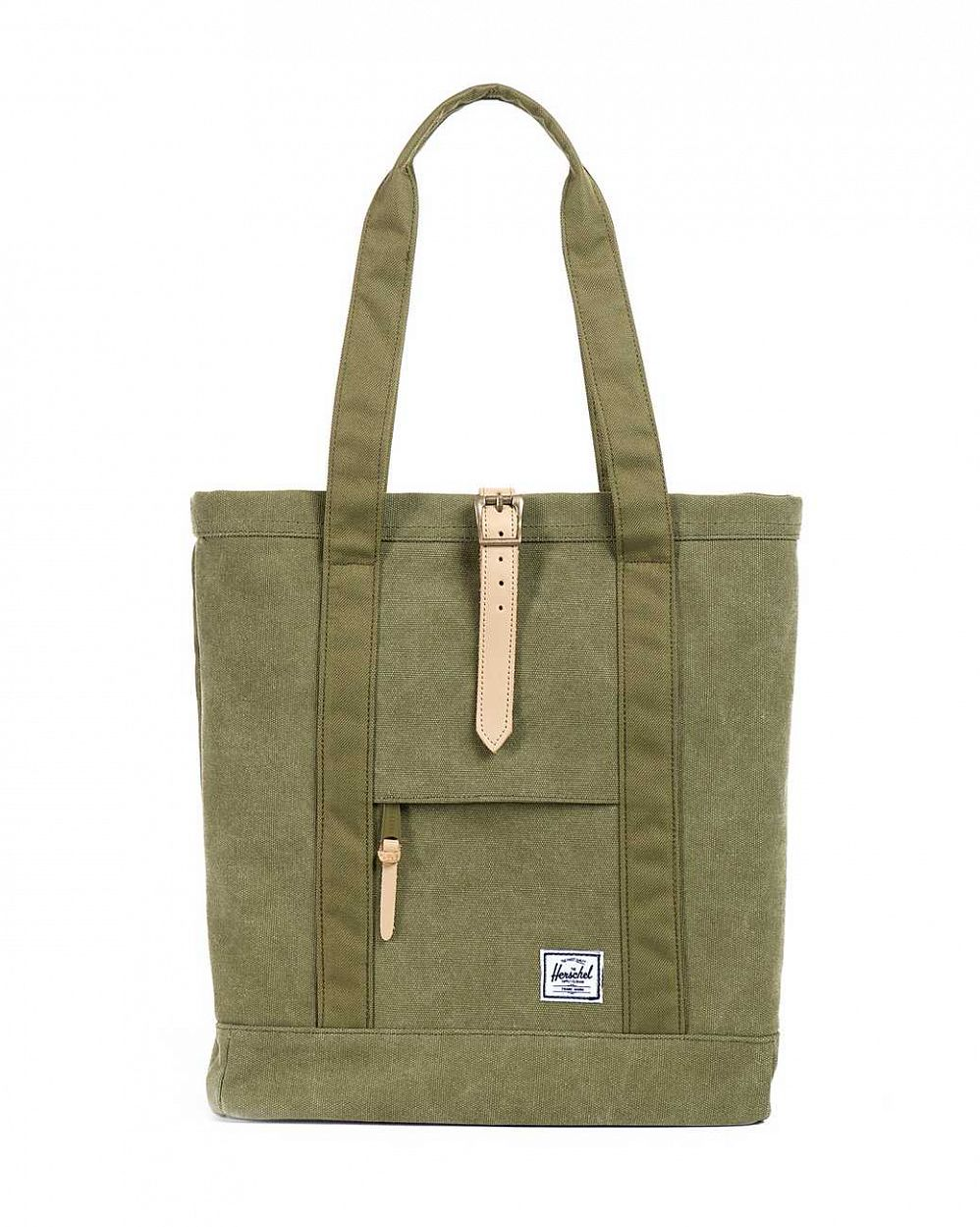купить Сумка Herschel Market Canvas Washed Army Army в Москве