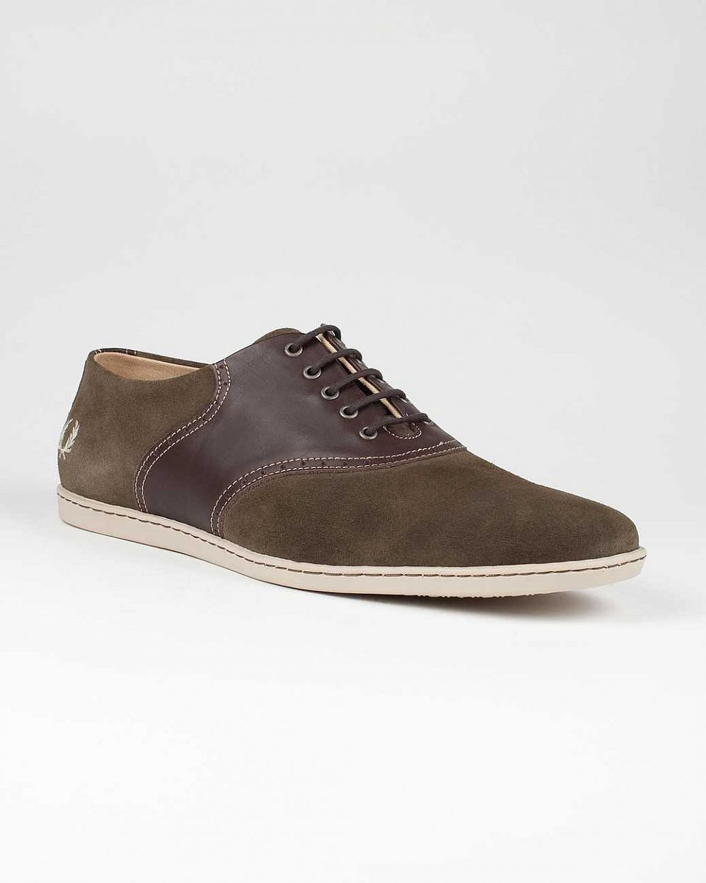 купить Кеды Fred Perry Rufus Suede Leather Chocolate в Москве