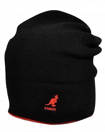 Шапка Kangol 2978BC Acrylic Cuff Pull-On Black Red
