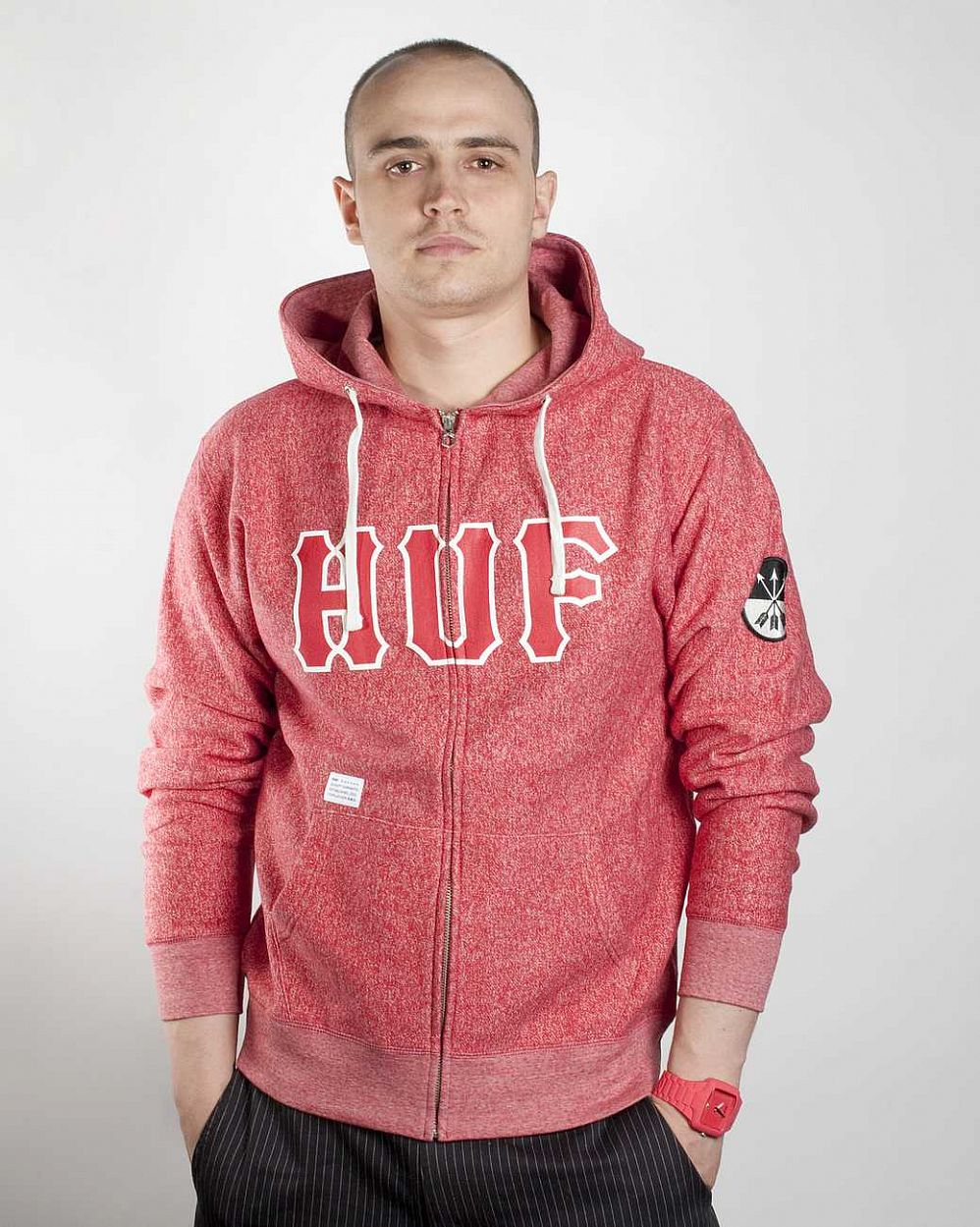 Толстовка HUF Zip Hood Red отзывы