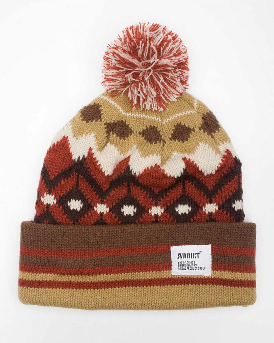 Шапка Addict Native Beanie Fennel отзывы