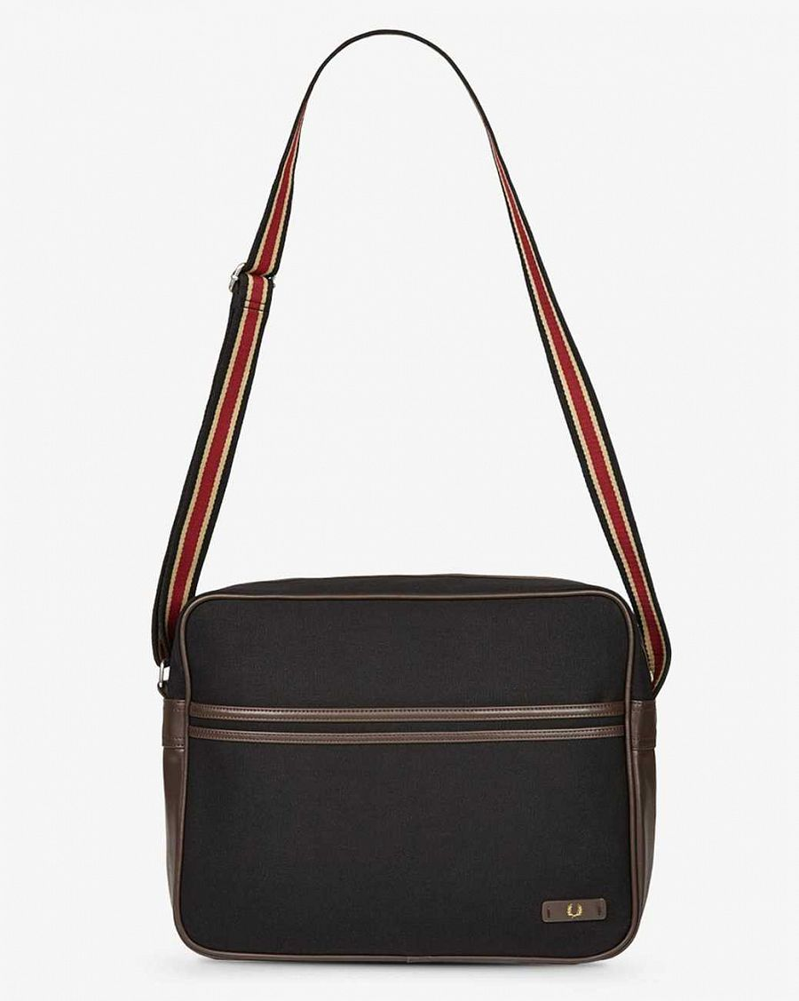 купить Сумка Fred Perry L5209 Classic Canvas Shoulder Bag Black в Москве
