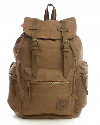 Рюкзак-мешок городской Kaukko Authentic Bags Co.Ltd FP702 Khaki Brown
