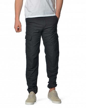 Брюки зауженные Carhartt WIP Aviation Regular Ripstop 6,5 Oz Black