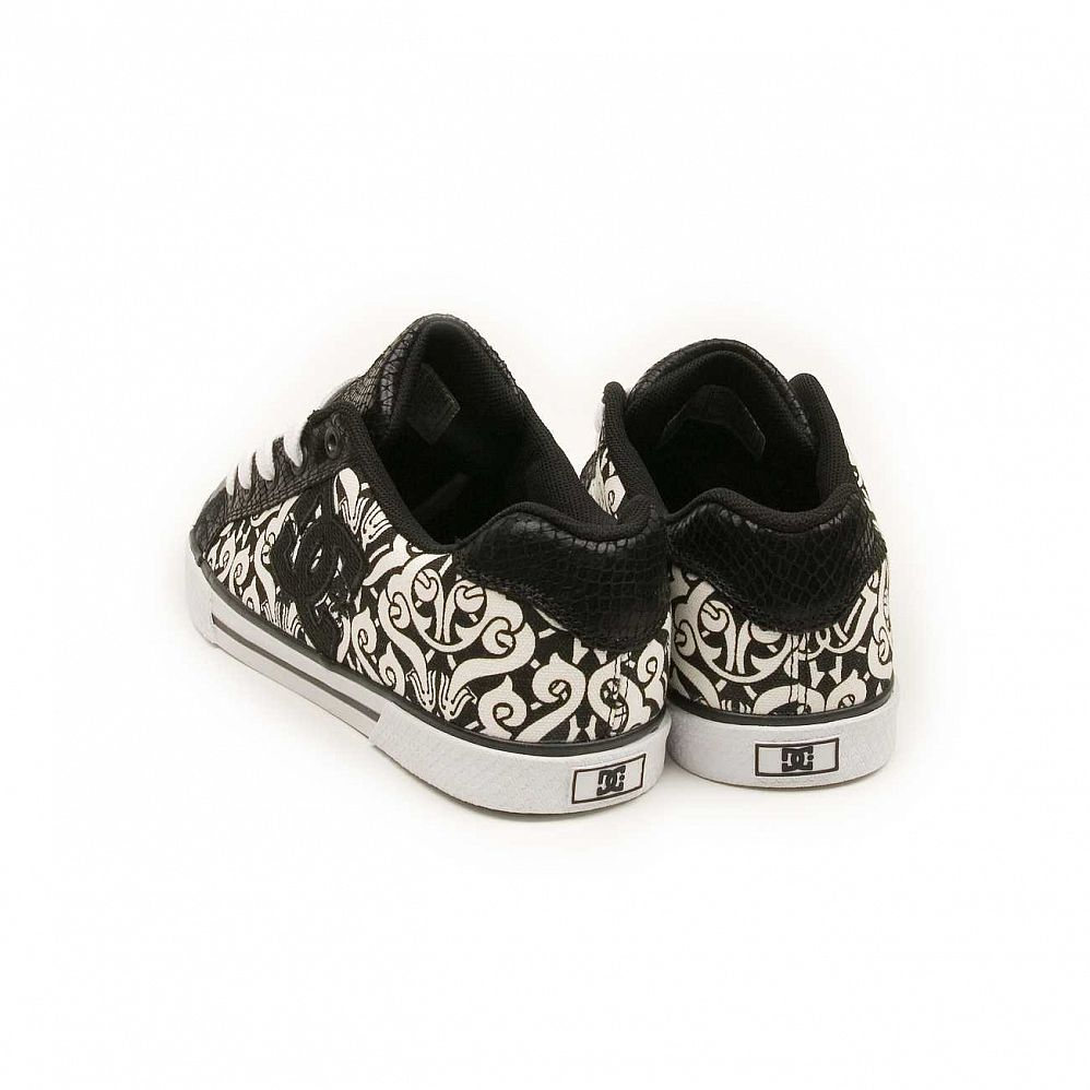 Кеды DC Shoes Chelsea W'S Black Black White интернет-магазин в Москве