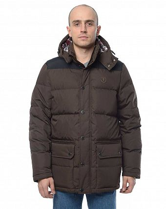 Куртка-парка на пуху Fred Perry J1285 Down Arctic Jacket Brown