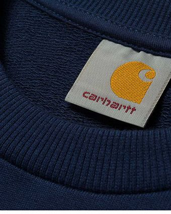 Толстовка Carhartt WIP Shore Sweatshirt blue white print black