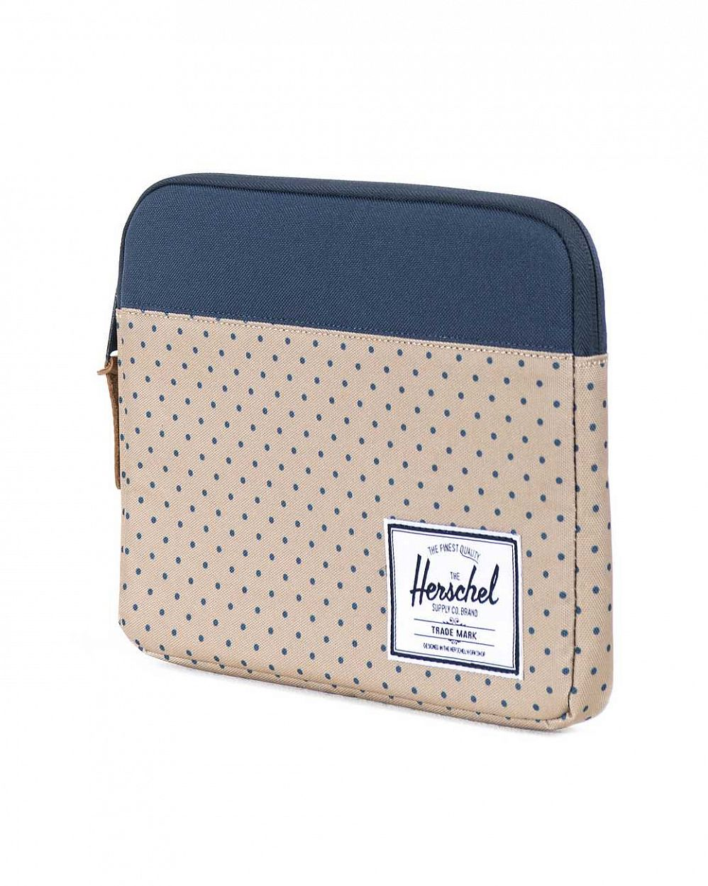 Чехол Herschel Anchor Sleeve для iPad Khaki Polka Dot Navy цена в Москве
