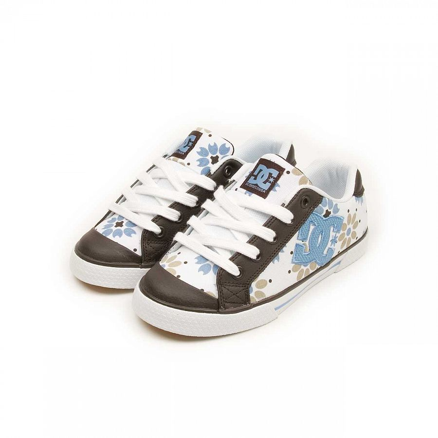 купить Кеды DC Shoes Chelsea W'S White Dark Chocolate в Москве
