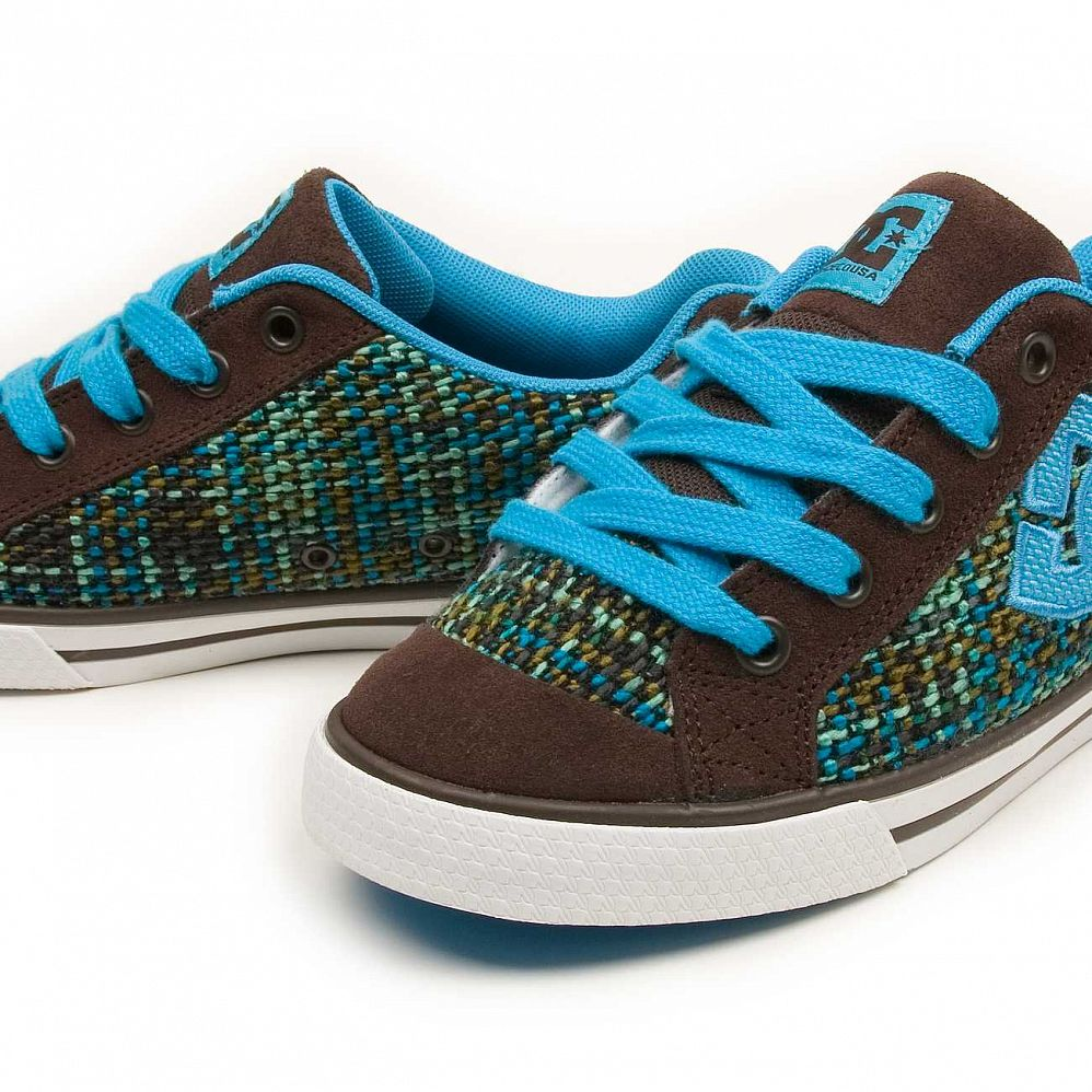 Кеды DC Shoes Chelsea W'S Dark Chocolate Turquoise цена в Москве