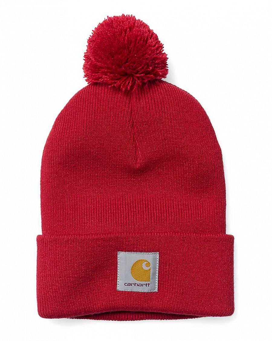 Шапка Carhartt WIP Bobble Watch Cap Beanie Blast Red отзывы