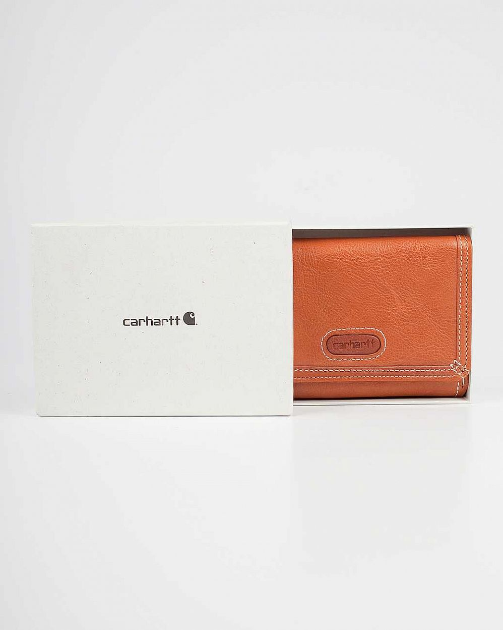 купить Кошелек Carhartt USA Woy Wallet Genuine Leather Brown в Москве