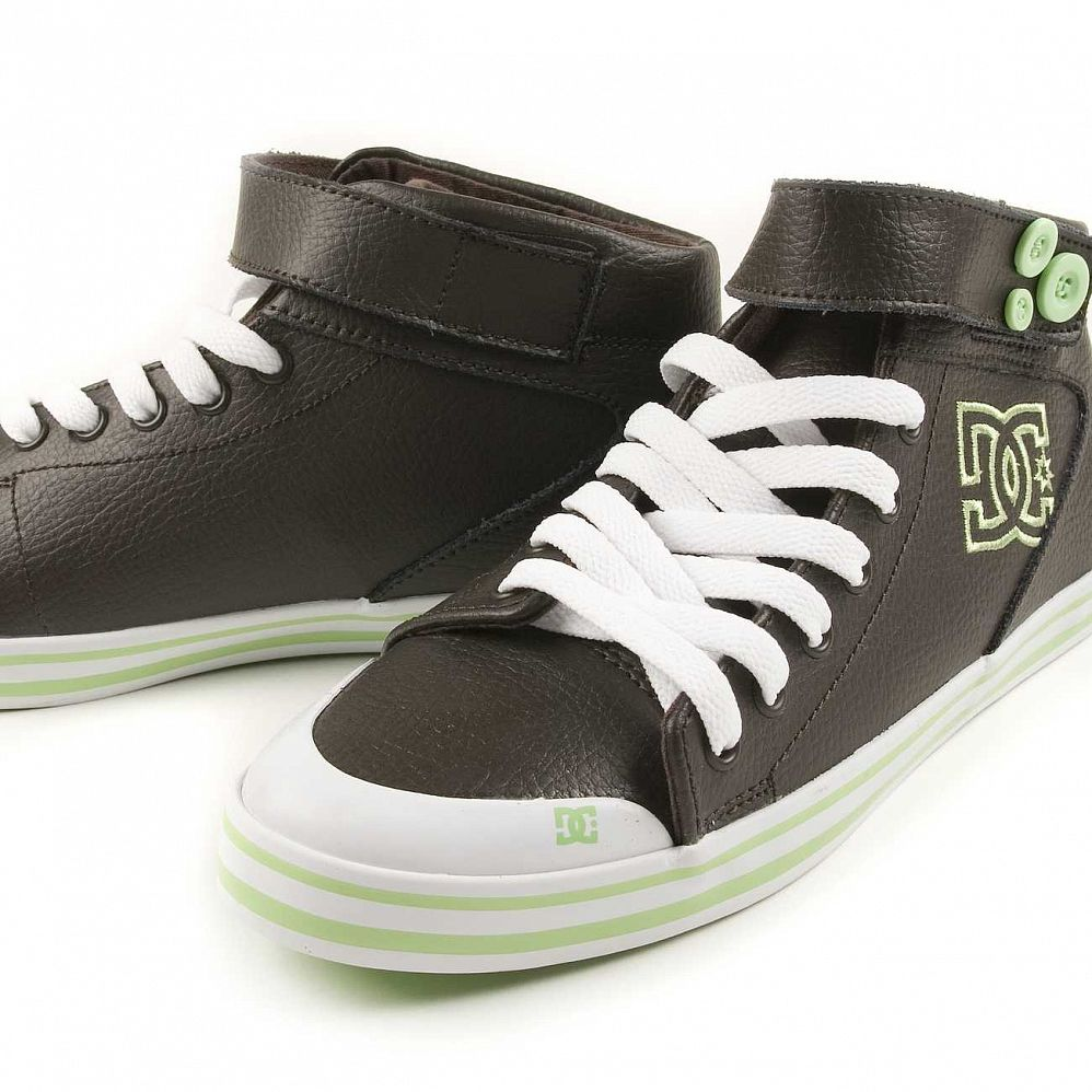 Кеды DC Shoes Venice Mid LE W'S Chocolate Green цена в Москве