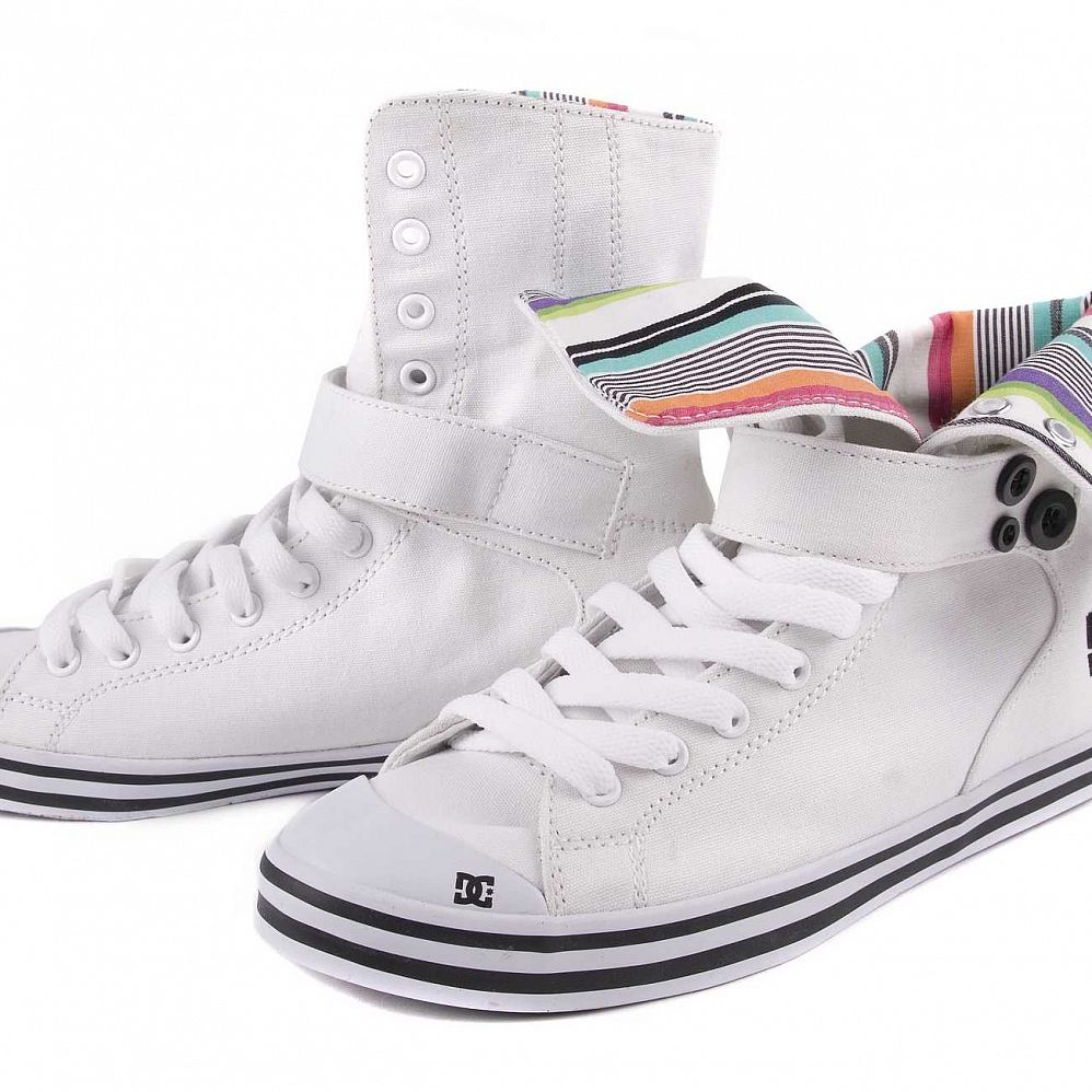 Кеды DC Venice HI Womens Shoe White/black цена в Москве