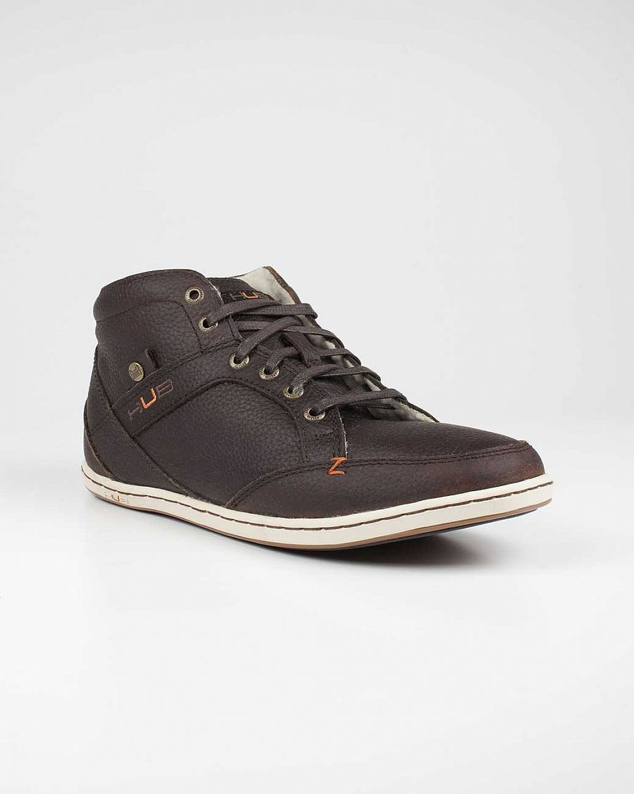 купить Ботинки Hubfootwear Kingston Wool Leather dark brown white в Москве