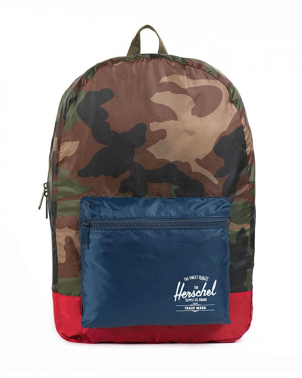 купить Рюкзак Herschel Packable Daypack Woodland Camo Navy Red в Москве