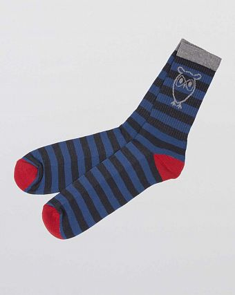 Носки Knowledge Cotton Apparel Esbern Tennis Sock 2-pack Blue Grey