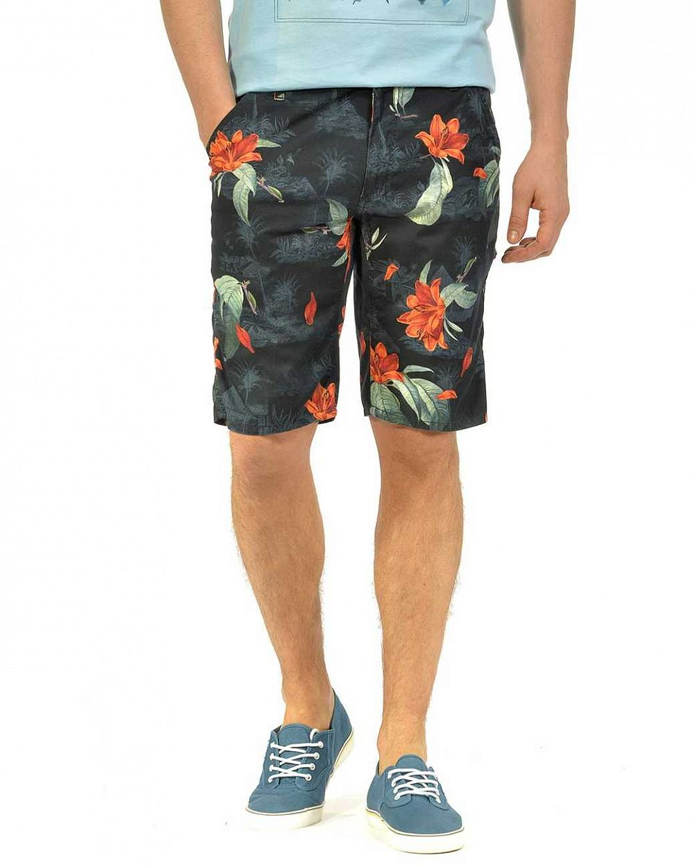 Шорты бермуды Carhartt WIP Lincoln Knee Milford Twill 5 Oz Tropic Print отзывы