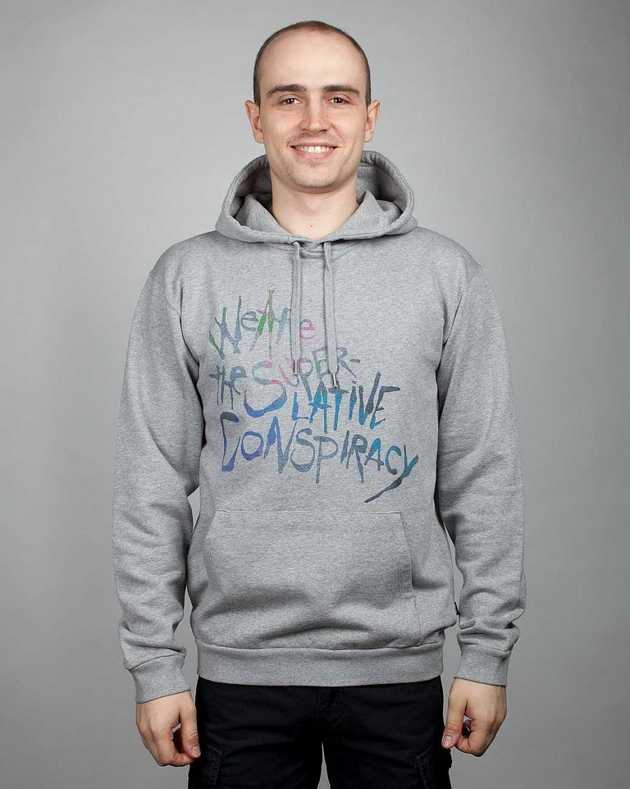 Толстовка Wesc, C1, Wesc On The Wall Men's Hooded Sweatshirt, Melange Grey отзывы