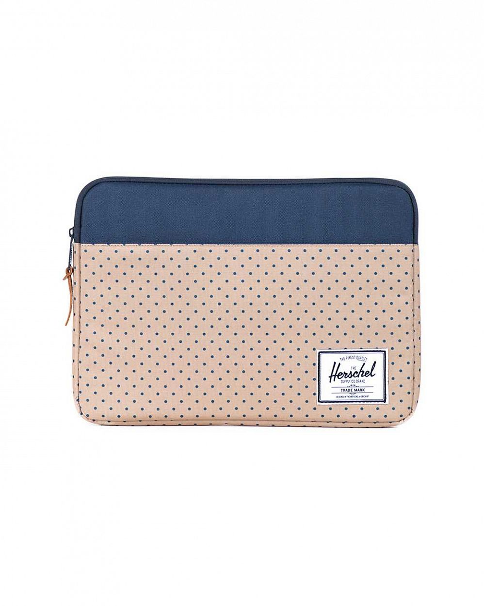 Чехол Herschel Anchor Sleeve для 13'' Macbook Khaki Polka Dot Navy отзывы