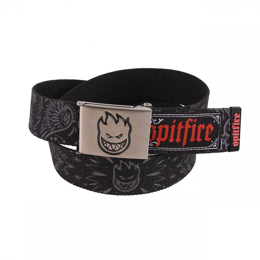 Ремень Spitfire Bandana Web Belt Black отзывы