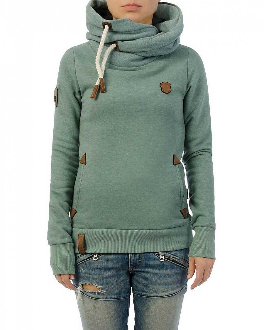 153b14a5 Толстовка женская с капюшоном Naketano Darth Simp Green Green купить ...