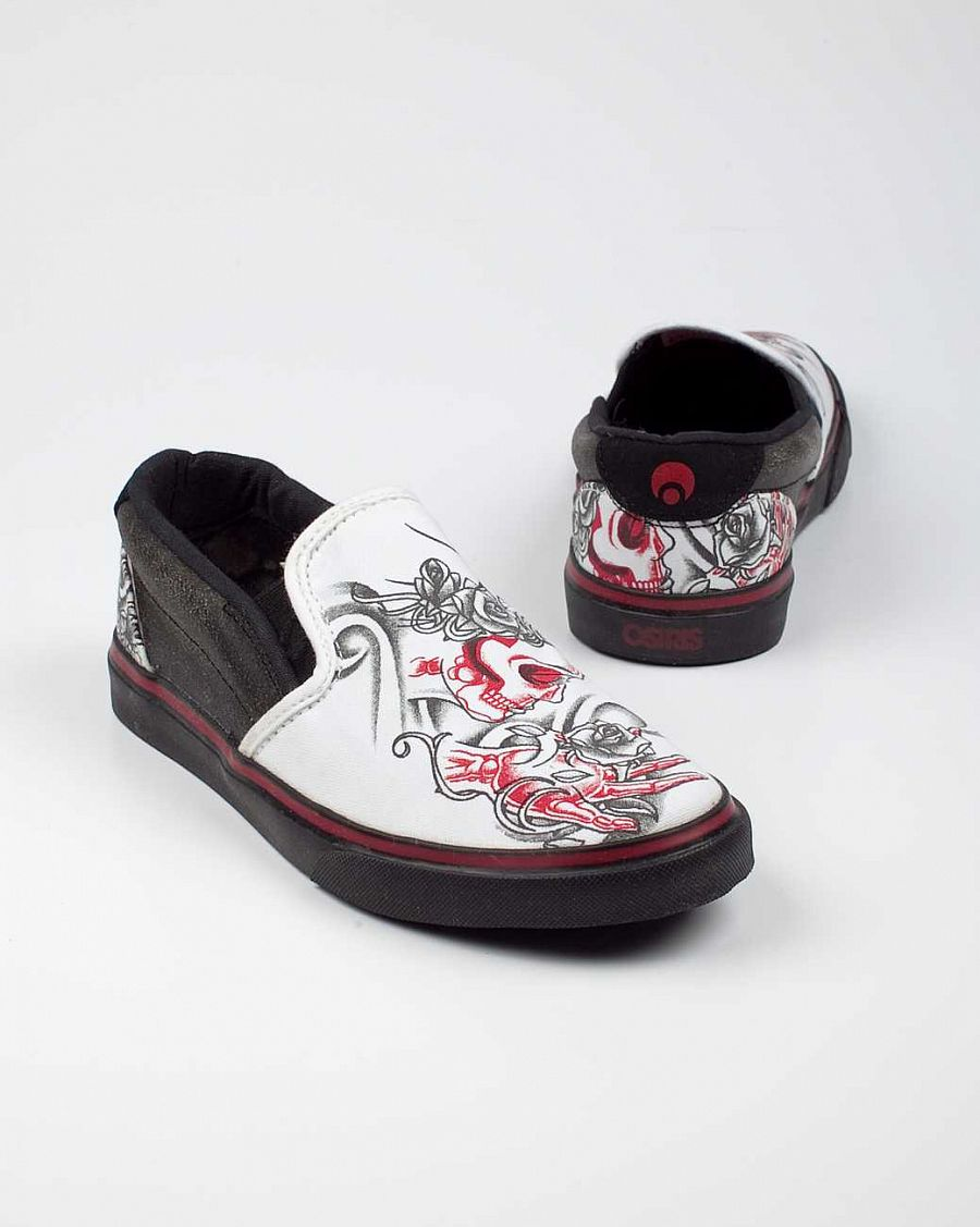 Слипоны Osiris Scoop Girls W'S black white red olvera отзывы