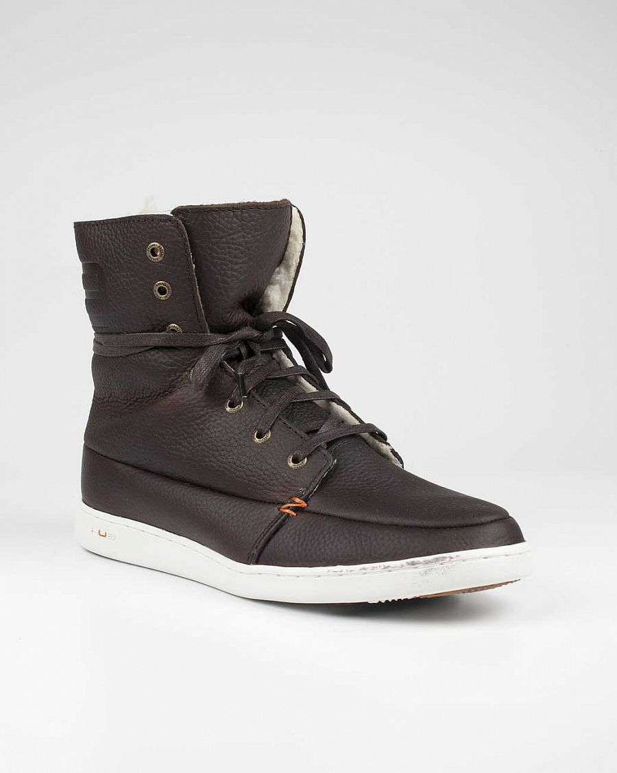 купить Ботинки Hubfootwear Tin Wool leather dark brown white в Москве