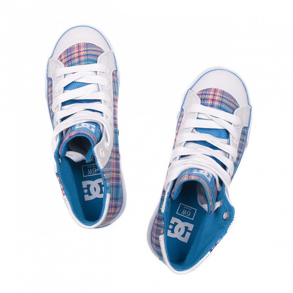 Кеды DC Shoes Chelsea Mid W'S White/turq/wht купить в интернете