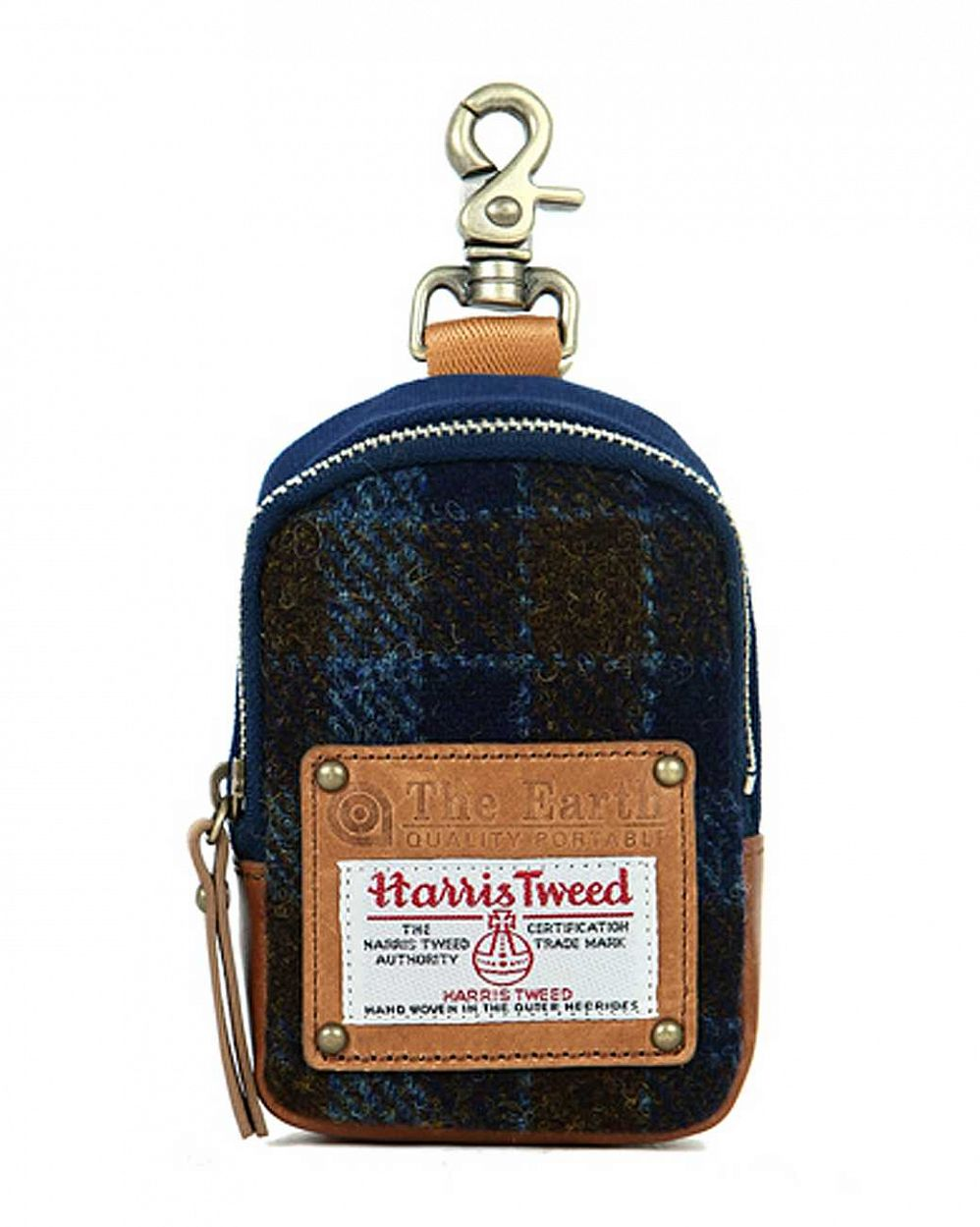 купить Чехол iPhone The earth Company Harris Tweed  (England) Chalk bag blue в Москве