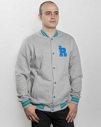 Толстовки Iriedaily College 2 Jacket Grey-mel