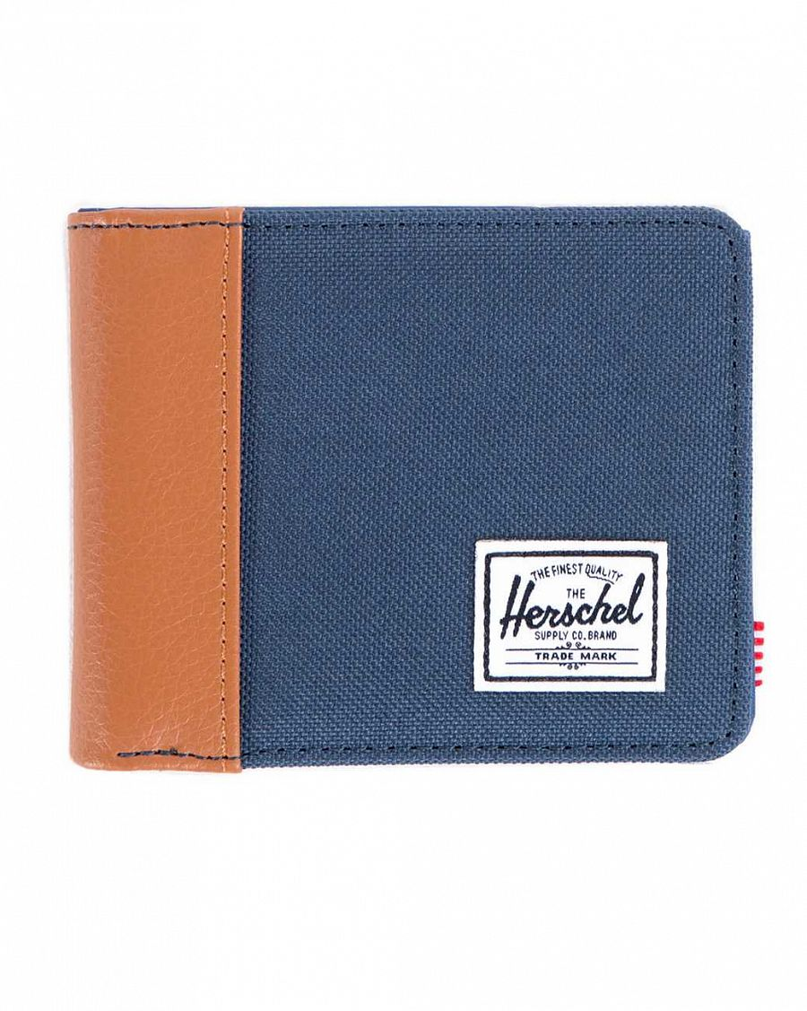 Кошелек Herschel Edward Navy Tan Pu Navy Nylon отзывы