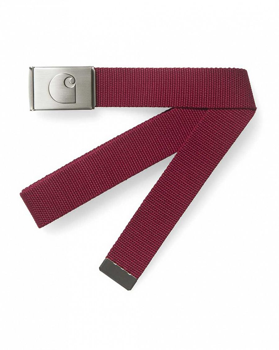Ремень Carhartt logo clip belt chrome grape отзывы
