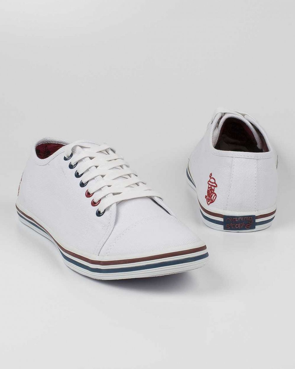 Кеды Nanny State Toe Shoe Canvas White Navy Bordeaux отзывы