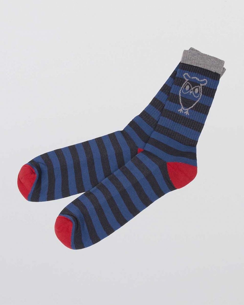 Носки Knowledge Cotton Apparel Benjamin Tennis Sock 2-pack Red Royal интернет-магазин в Москве