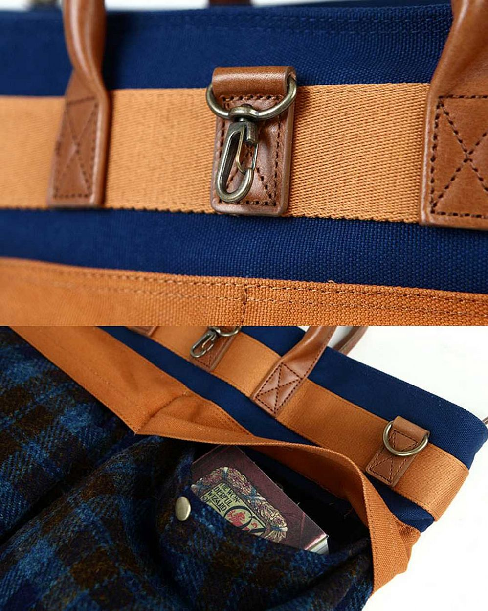 Сумка The earth Company Harris Tweed  (England) Helmet bag blue цена в Москве