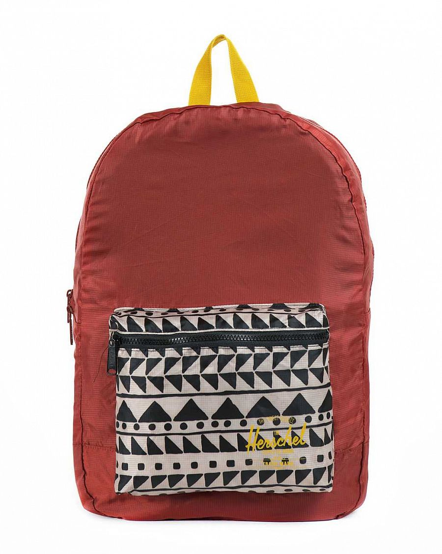 Рюкзак Herschel Packable Daypack Rust Chevron Black Butternut отзывы