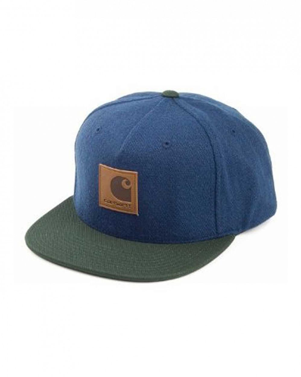 Бейсболка Carhartt neal starter cap navy bottle green отзывы