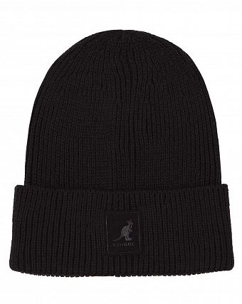 Шапка Kangol British K3020ST Patch Beanie Black
