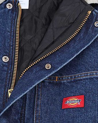 Куртка Dickies 1922 Denim Zip Front Chore Coat Indigo